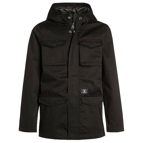 Куртка детская DC Mastadon 3 BlackОдежда<br>Удлиненная куртка для мальчиков из хлопка с водостойким покрытием в классическом дизайне.Технические характеристики: Водостойкое покрытие.Подкладка - полиэстер.Фиксированный капюшон.Нагрудные карманы и карманы для рук.Классический прямой крой.Застежка на молнии и кнопках.Логотип DC.<br><br>Размер EU: 10yrs<br>Размер EU: 12yrs<br>Размер EU: 14yrs<br>Размер EU: 16yrs<br>Цвет: черный<br>Тип: Куртка<br>Возраст: Детский