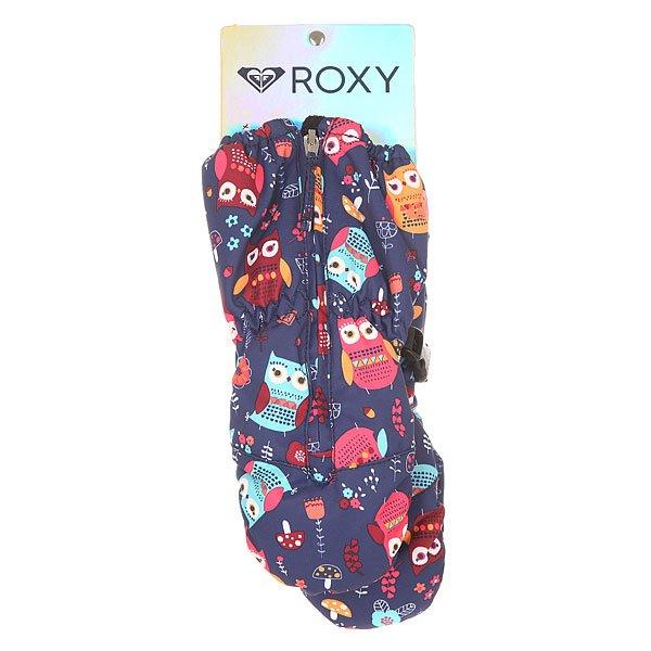 Варежки сноубордические детские Roxy Snows Up Mitt Little Owl Blue Prin от BOARDRIDERS