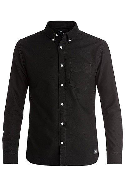 Рубашка DC Oxford Ls 3 BlackРубашки<br>Мужская рубашка в спортивном стиле из плотного хлопка Oxford.Технические характеристики: Плотный хлопок Oxford.Классический отложной воротник на пуговицах.Длинные рукава с манжетами на пуговицах.Нагрудный карман.Фигурный подол.<br><br>Размер EU: XS<br>Размер EU: L<br>Размер EU: S<br>Цвет: черный<br>Тип: Рубашка<br>Возраст: Взрослый<br>Пол: Мужской