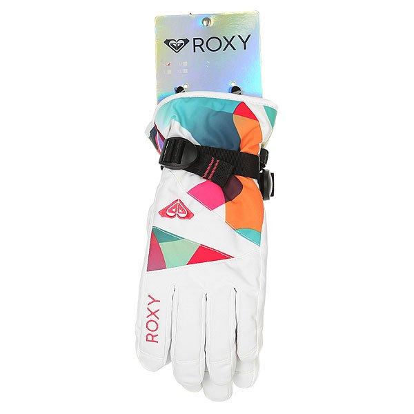 Перчатки сноубордические женские Roxy Jetty Gloves Milo Typo Bright Whi от BOARDRIDERS