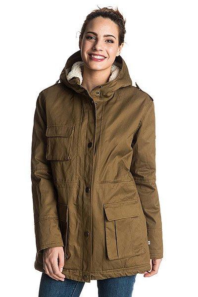 Куртка зимняя женская Roxy Aleho Military OliveКуртки и Парки<br>Создавая вещи для занятия спортом и повседневной жизни, в которых угадываются фитнес-мотивы, эта новая линейка делает ставку на выраженную женственность. Идеальное сочетание мягкой ткани и универсальных фасонов - эта коллекция создана для движения и ежесекундного прогресса.Технические характеристики: Мягкая качественная саржа.Подкладка из шерпы (включая капюшон).Нагрудный карман и карманы для рук.Регулируемый внутренний пояс.Подол рыбий хвост с регулировкой.Застежка на молнии и кнопках.Кожаная нашивка с логотипом Roxy.<br><br>Размер EU: XS<br>Размер EU: S<br>Размер EU: L<br>Размер EU: M<br>Размер EU: XL<br>Цвет: зеленый<br>Тип: Куртка зимняя<br>Возраст: Взрослый<br>Пол: Женский