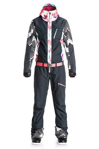 Комбинезон женский Roxy Impres Suit Pop True BlackШтаны<br>Яркая неоновая эстетика горных склонов 80-х, выгодно подчеркивающие фигуру фасоны и лучшие катальные технологии – готовьтесь к хаосу на склонах, где все будут смотреть только на Вас, но никак не перед собой! Коллекция ROXY POP Snow.Технические характеристики: Водостойкая и дышащая мембрана ROXY DryFlight® 10K.Полностью проклеенные швы.Три способа регулировки капюшона.Фиксированный капюшон.Подкладка в районе подбородка.Нагрудный карман.Внутренний медиа карман.Внутренний карман для маски.Брелок для ключей.Манжеты из лайкры с прорезями для больших пальцев.Кармашек для скипасса на рукаве.Сеточная вентиляция подмышками и вдоль штанин.Карманы с теплой подкладкой.Съемный ремень.Система утяжки краев штанин предотвращает износ и загрязнение.Края штанин со вставкой на молнии.Усиленные края штанин для большей износостойкости.Водостойкие молнии YKK® Aquaguard®.Сезон - зима, до -20 градусов со вторым слоем одежды.<br><br>Размер EU: XS<br>Размер EU: L<br>Размер EU: M<br>Размер EU: S<br>Размер EU: XL<br>Цвет: черный,мультиколор<br>Тип: Комбинезон<br>Возраст: Взрослый<br>Пол: Женский