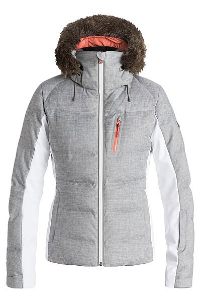 Куртка женская Roxy Snowstorm Mid Heather Grey