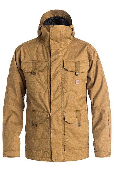 Куртка DC Servo Dull GoldСноубординг<br>Сноубордическая куртка DC Servo призвана обеспечить Вам максимальный комфорт при катании в любую погоду. Влагостойкая ткань Exotex 15K надежно защитит от промокания, а подкладка из тафты добавит мягкости и удобства.Характеристики:Влагостойкая ткань Exotex 15K (15 000 мм. / 15 000 г.). Утеплитель 80гр тело и 40гр рукава. Стандартный крой. Проклеенные критические швы. Сетчатые карманы для вентиляции. Снегозащитная юбка. Капюшон с 3 вариантами регулировки. Внутренние манжеты из лайкры. Регулируемые манжеты на липучке. Капюшон с козырьком. Карман на молнии на рукаве для ски-пасса. Нагрудные карманы на кнопках. Передние карманы на кнопках сверху и на молнии сбоку.Перекрестные швы на спине. Внутренний сетчатый карман. Медиа-карман.Подкладка: тафта.<br><br>Размер EU: XL<br>Размер EU: S<br>Размер EU: XXL<br>Размер EU: M<br>Размер EU: L<br>Цвет: коричневый<br>Тип: Куртка утепленная<br>Возраст: Взрослый<br>Пол: Мужской