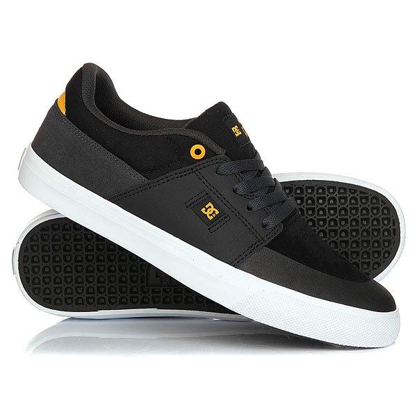 Кеды кроссовки низкие DC Wes Kremer Black/Grey/Yellow