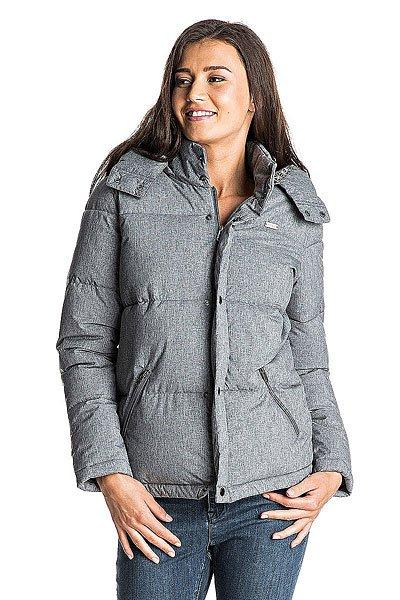 Куртка зимняя женская Roxy Barrika Heritage HeatherКуртки и Парки<br>Непринужденность всегда привлекательна. Наверное, дело в том, что простота – высшая форма изысканности. Создавая вещи для занятия спортом и повседневной носки, в которых угадываются фитнес-мотивы, эта новая линейка делает ставку на выраженную женственность. Идеальное сочетание мягкой ткани, яркой графики и универсальных фасонов (а ROXY в этом спец!): эта коллекция создана для движения и ежесекундного прогресса.Характеристики:Скругленная линия подола. Подкладка с принтом. Карманы на молнии. Съемный капюшон. Водостойкая ткань с термополиуретановой пропиткой. Водостойкость 3K.<br><br>Размер EU: M<br>Размер EU: XL<br>Размер EU: XS<br>Размер EU: S<br>Размер EU: L<br>Цвет: серый<br>Тип: Куртка зимняя<br>Возраст: Взрослый<br>Пол: Женский