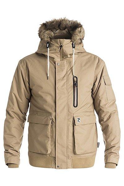 Куртка зимняя Quiksilver Arris ElmwoodКуртки и Парки<br>Зимние холода утратят свой суровый характер, как только куртка Arris уютно ляжет Вам на плечи. Она предназначена для самых серьезных минусовых температур и изготовлена из плотной ткани, дополнена подкладкой из шерпы и утеплителем 3m® Thinsulate®.Технические характеристики: Материал - плотный Оксфорд.Водонепроницаемая и дышащая мембрана DRYFLIGHT 10К.Утеплитель 3m® Thinsulate® Type KK (тело 240 г, рукава 180 г, капюшон 140 г).Подкладка из шерпы.Критические швы проклеены.Регулируемый штормовой капюшон.Съемный искусственный мех на капюшоне.Нагрудный карман, карман на рукаве и карманы для рук.Коллекция Cold Winter.<br><br>Размер EU: L<br>Цвет: бежевый<br>Тип: Куртка зимняя<br>Возраст: Взрослый<br>Пол: Мужской