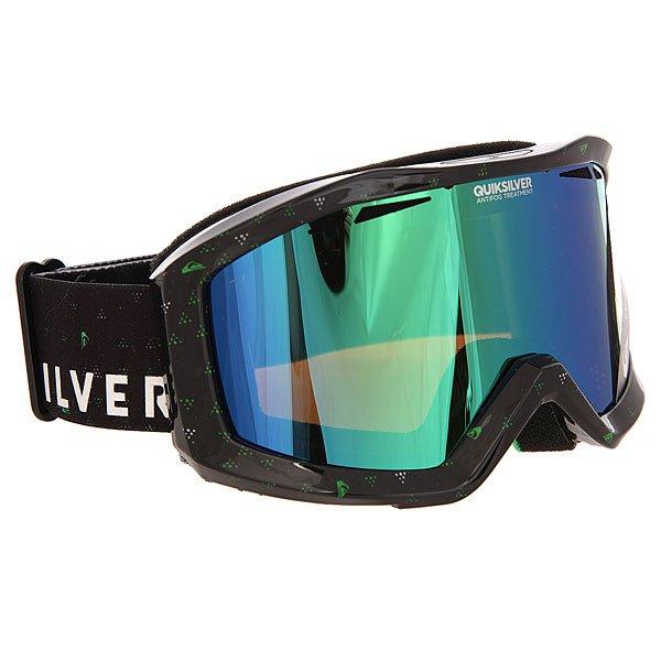 Маска для сноуборда Quiksilver Fenom Pack BlackМаски<br>Маска, которая даст Вам новый взгляд на вещи в буквальном смысле!Лучшее снаряжение для лучших!Характеристики:Устойчивый к царапинам фильтр на 100% защищает от ультрафиолетового излучения (блокирует вредное UVA, UVB, UVC излучение, а также ультрафиолетовое излучение до 400 NM).  Цилиндрическая поликарбонатная двойная линза, выполненная по технологии High-Definition.Антиударная и устойчивая к царапинам низкопрофильная оправа PU (органический полимер). Перфорация линз для улучшенной вентиляции.  Технология антизапотевания Quiksilver Anti-fog. Тройное флисовое  покрытие гибкой оправы для дополнительного комфорта. Совместимость с любим видом шлемов.Оптимизирована для средней и широкой формы  лица. Мягкая флисовая сумочка для защиты маски при ношении. Сменная линза в комплекте.<br><br>Размер EU: One Size<br>Цвет: черный<br>Тип: Маска для сноуборда<br>Возраст: Взрослый<br>Пол: Мужской