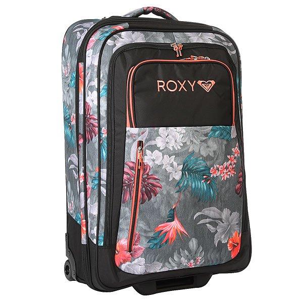 Сумка дорожная женская Roxy Long Haul Tr Hawaiian Tropik ParaБагаж<br>Большой и вместительный женский чемодан (объемом целых 126 литров) для тех, кто привык брать в путешествия очень много вещей или путешествовать семьей. Отлично организованное пространство внутри и снаружи, надежные колеса, удобная телескопическая ручка имножество других достоинств, которые влюбляют в чемодан с первого взгляда.Характеристики:Износостойкий материал. Просторное основное отделение с разделениемна два отсека и внутренним органайзером. Прочная колесная база, маневренные и надежные колеса. Внешний карман для аксессуаров на молнии.Переднее отделение на молнии для обуви. Удобная телескопическая ручка.Ручки для переноскис трех сторон. Окошко для ID-карты. Компрессионные ремни. Фирменная нашивка Roxy.<br><br>Размер EU: 70 л.<br>Цвет: серый,мультиколор<br>Тип: Сумка дорожная<br>Возраст: Взрослый<br>Пол: Женский