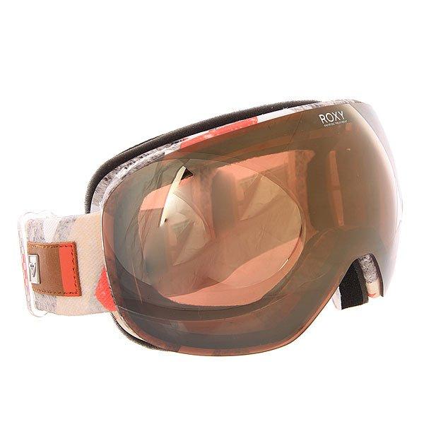 Маска для сноуборда женская Roxy Popscreen Frozen Mountain HeatМаски<br>Стильная маска Roxy Popscreen обладает ударопрочной двойной сферической линзой с 3D сетчатыми фильтрами, которая обеспечивает четкое и широкое поле зрения и сводит к минимуму искажения. Характеристики:Устойчивая к царапинам линза на 100% защищает от ультрафиолетового излученияАнтифоговое покрытие не дает маске запотевать изнутри. В месте соприкосновения с лицом имеется дополнительный слой пены и мягкого флиса, поглощающего влагу. Прочная внутренняя оправа выполнена из полиуретана для обеспечения комфортной посадки и обладает отличной системой вентиляции. Широкий регулируемый ремешок с накладкой против скольжения. Маска Roxy Popscreen совместима со всеми видами шлемов.<br><br>Размер EU: One Size<br>Цвет: мультиколор<br>Тип: Маска для сноуборда<br>Возраст: Взрослый<br>Пол: Женский