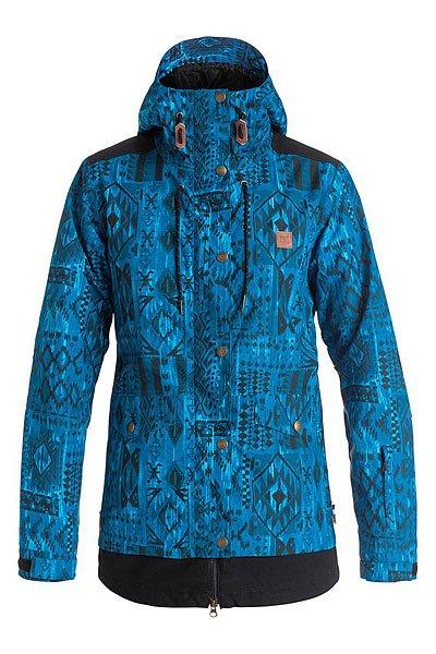 Куртка женская DC Riji TribalКуртки и Парки<br>Оригинальная сноубордическая куртка в двухслойном дизайне с мембраной EXOTEX 10 и утеплителем.Технические характеристики: Мембрана EXOTEX 10.Теплая и уютная подкладка из тафты.Утеплитель (тело 80 г, рукава 40 г).Критические швы проклеены.Вставки из сетки для воздухообмена.Капюшон с регулировкой.Фиксированная снежная юбка на кнопках.Система пристегивания куртки к штанам.Внутренние манжеты из лайкры с отверстиями для пальцев.Выход для провода наушников.Карманы для рук.Кармашек для скипасса на молнии на рукаве.Внутренний карман для маски.Манжеты с регулировкой на липучках.Подол на утяжке для защиты от ветра.Застежка на молнии с ветрозащитным клапаном на липучках.<br><br>Размер EU: S<br>Размер EU: XL<br>Размер EU: L<br>Размер EU: XS<br>Размер EU: M<br>Цвет: синий,черный<br>Тип: Куртка утепленная<br>Возраст: Взрослый<br>Пол: Женский