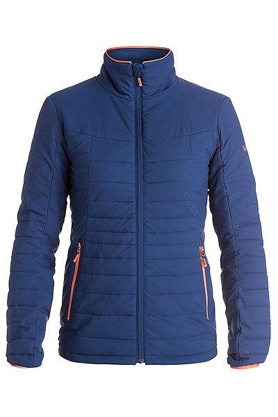 Куртка женская Roxy Highlight Blue PrintКуртки и Парки<br>Облегающая утепленная куртка с компактным утеплителем PrimaLoft® Gold Insulation Luxe для сохранения маневренности и мобильности в любых условиях, а благодаря DWR ROXY DryFlight® куртку можно носить как самостоятельно, или в качестве дополнительного слоя.Технические характеристики: Утеплитель PrimaLoft® Gold Insulation Luxe  - чрезвычайно теплый синтетический утеплитель, главным преимуществом которого является его способность сохранять тепло даже в мокром состоянии.Прочный нейлон.Боковые карманы на молнии.Отделка из лайкры.Возможность использовать как второй слой.<br><br>Размер EU: L<br>Размер EU: S<br>Размер EU: XL<br>Размер EU: M<br>Размер EU: XS<br>Цвет: синий<br>Тип: Куртка<br>Возраст: Взрослый<br>Пол: Женский