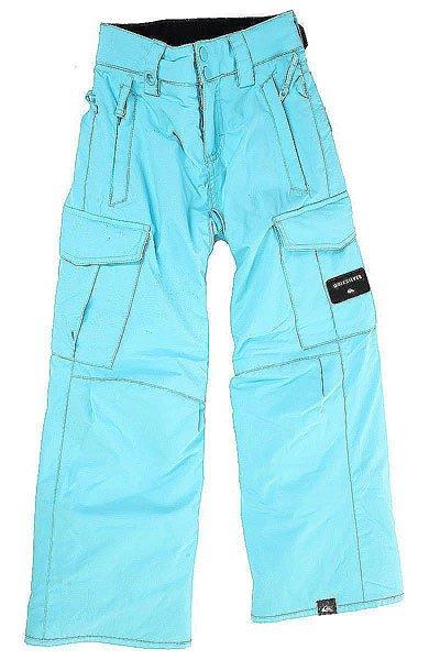 Штаны сноубордические детские Quiksilver Porter BluefishОдежда<br>Классические штаны для сноуборда Porter в комфортном и непринужденном дизайне с мембраной DryFlight® 10K для надежной и водонепроницаемой защиты и утеплителем Warmflight® для дополнительного тепла.Технические характеристики: Утеплитель Warmflight® (100 г).Подкладка из тафты и трикотажа с начесом.Критические швы проклеены.Вентиляция за счет сеточных вставок.Система пристегивания куртки к штанам.Регулируемая талия на утяжке.Мягкий трикотаж с начесом с изнанки пояса.Холдер для скипасса.Края штанин на кнопке.Усиленные края штанин для большей износостойкости.Гетры для ботинок из тафты.<br><br>Размер EU: 8yrs<br>Размер EU: 10yrs<br>Размер EU: 12yrs<br>Размер EU: 14yrs<br>Размер EU: 16yrs<br>Цвет: голубой<br>Тип: Штаны сноубордические<br>Возраст: Детский