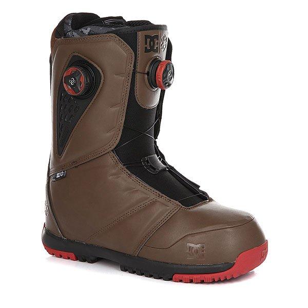 Ботинки для сноуборда DC Judge Dark BrownБотинки<br>DC Judge Boax - пример идеального баланса высокой производительности и комфорта. Быстрая двухзоновая система шнуровки Boa с прочными шнурками позволит легко и быстро подогнать ботинок по ноге. Система вентиляцииAerotech отведет лишнюю влагу, оставляя ноги в сухости и тепле, а встроенная в подошву демпфирующая системаImpact S защитит стопы от вибраций и жестких приземлений.Характеристики:Жесткость: 8/10. Быстрая шнуровка Boa® Focus с системой двухзоновой настройки H3. Подошва из вспененного материалаUnilite™.Внутренник Black Liner. Стелька Impact S, защищающая пятку и стопу от внешних воздействий. Внутренняя вставка для поддержки лодыжки. Конструкция Articulated позволяет верхней части ботинка гнуться независимо от нижней, тем самым не деформируя ботинок. Система вентиляции Aerotech, отводящая лишнюю влагу, сохраняющая тепло. Прочные шнуркиBoa®.Пяточная петля. Нанесенный на язычке исбоку ботинка фирменный логотип.<br><br>Размер EU: DC man B: 10.5us 44eur 28.25cm<br>Размер EU: 44.5<br>Размер US: 11<br>Размер CM: 28.5<br>Размер EU: 45<br>Размер US: 11.5<br>Размер CM: 29<br>Размер EU: 43<br>Размер US: 10<br>Размер CM: 28<br>Размер EU: DC man B: 12us 46eur 29.25cm<br>Размер EU: 42.5<br>Размер US: 9.5<br>Размер CM: 27.5<br>Цвет: коричневый<br>Тип: Ботинки для сноуборда<br>Возраст: Взрослый<br>Пол: Мужской