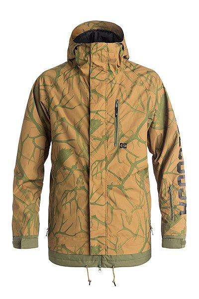 Куртка DC Ripley AntlersКуртки и Парки<br>Модный фасон, логотип во всю длину рукава, немного утеплителя: 80 г тело, 40 г рукава, а также мембрана 10000 на 10000 - это рецепт действительно качественной куртки для сноубординга. Несколько карманов на молниях, эргономичный капюшон и вентиляция, конечно же, тоже присутствуют, так как без этого никуда.Характеристики:Влагостойкая ткань Exotex 10K (10,000мм/10,000г). Утеплитель 80 гтело и 40 грукава. Свободный крой.Проклеенные швы. Вентиляция закрыта сеткой от попадания снега.Снегозащитная юбка. Капюшон с регулировками. Внутренние манжеты из лайкры. Регулируемые манжеты на липучке. Карман на молнии на рукаве для ски-пасса. Нагрудный медиа-карман на молнии. Два передних кармана на молнии.Регулируемый подол. Внутренний сетчатый карман. Внутренний карман на липучке. Подкладка из тафты. Напечатанный логотип на рукаве.<br><br>Размер EU: S<br>Размер EU: M<br>Размер EU: L<br>Размер EU: XS<br>Размер EU: XL<br>Цвет: зеленый,коричневый<br>Тип: Куртка утепленная<br>Возраст: Взрослый<br>Пол: Мужской