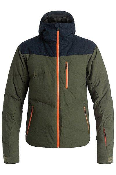 Куртка Quiksilver Ultimate Forest NightКуртки<br><br><br>Размер EU: XL<br>Цвет: зеленый,синий<br>Тип: Куртка утепленная<br>Возраст: Взрослый<br>Пол: Мужской