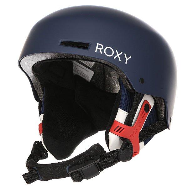 Шлем для сноуборда женский Roxy Muse Blue PrintШлемы<br>Стильный шлем двухслойной конструкции с внешней оболочкой из ABS пластика и с внутренним слоем из вспененного амортизирующего материала EPS. Шлем снабжен внутренними вентиляционными каналами, позволяющими воздуху циркулировать и тем самым создавать оптимальный теплообмен. Roxy Muse помимо надежной конструкции обладает интересным принтом, которой несомненно добавит стиля катальному женскому образу.Характеристики:Внешняя оболочка из прочного ABS пластика.Внутренний слой из вспененного материала EPS, амортизирующего удары.Внутренние каналы вентиляции. Мягкие термоформованные съемные амбушюры.Система застежкиFidlock®.Мягкая накладка на подбородок из шерпа-флиса.Крепление для маски. Флисовая подкладка. Вес: 550 грамм. Состав: 100% пластик.<br><br>Размер EU: L<br>Размер EU: M<br>Размер EU: S<br>Цвет: синий<br>Тип: Шлем для сноуборда<br>Возраст: Взрослый<br>Пол: Женский
