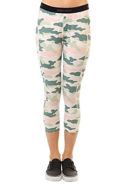 Термобелье (низ) женское Super Natural Base 3/4 Tight 230 Fresh White/Camo Pri