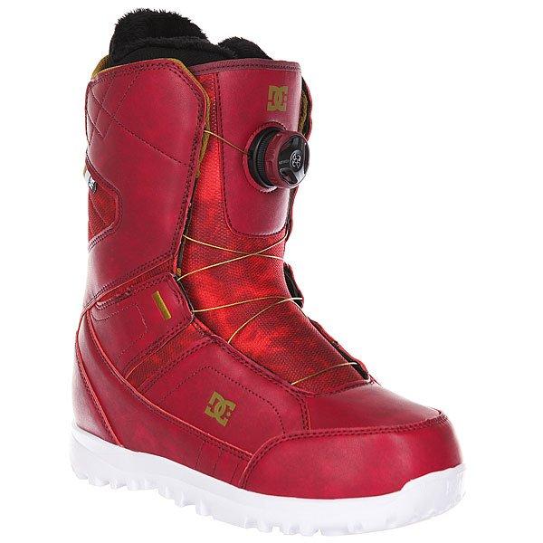 Ботинки для сноуборда женские DC Search MaroonБотинки<br>Комфортные и легкие ботинки на технологичной подошве Unilite™.Технические характеристики: Система скоростной шнуровки Boa® H3 Coiler™.Технологичная и легкая подошва Unilite™.Внутренник Red.Базовая сноубордическая стелька.Подошва из  полимера EVA.Жесткость 6/10.<br><br>Размер EU: 41<br>Размер US: 9.5<br>Размер CM: 27<br>Размер EU: 40<br>Размер US: 8.5<br>Размер CM: 25.5<br>Размер EU: 40.5<br>Размер US: 9<br>Размер CM: 26.5<br>Размер EU: 38<br>Размер US: 7<br>Размер CM: 24<br>Размер EU: 39<br>Размер US: 8<br>Размер CM: 25<br>Размер EU: 42<br>Размер US: 10<br>Размер CM: 28<br>Размер EU: 38.5<br>Размер US: 7.5<br>Размер CM: 24.5<br>Цвет: бордовый<br>Тип: Ботинки для сноуборда<br>Возраст: Взрослый<br>Пол: Женский