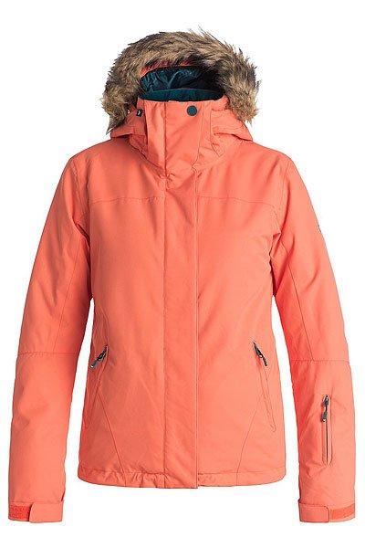 Куртка женская Roxy Jet Ski Sol CamelliaКуртки<br>Приталенная и уютная сноубордическая куртка со съемным мехом. Стильная цветовая гамма для настроения, а надежная мембрана DryFlight® 10К и утеплитель Warmflight® будут держать Вас в тепле в холодные зимние дни.Технические характеристики: Мембрана DryFlight® 10К.Утеплитель Warmflight® (тело 120 г, рукава 100 г, капюшон 60 г).Подкладка из тафты со вставками из трикотажа с начесом.Критические швы проклеены.Три способа регулировки капюшона.Съемный капюшон.Съемная отделка капюшона из искусственного меха.Фиксированная снежная юбка из тафты с удобными кнопками.Система пристегивания куртки к штанам.Подкладка в районе подбородка.Внутренний медиа карман.Внутренний карман для маски.Брелок для ключей.Внутренние манжеты из лайкры.Кармашек для скипасса на рукаве.Карманы для рук с теплой подкладкой.Манжеты с регулировкой на липучках.Сеточная вентиляция на молнии.Подол на утяжке для защиты от ветра.Застежка на молнии с ветрозащитным клапаном на липучках.<br><br>Размер EU: S<br>Размер EU: XS<br>Размер EU: L<br>Размер EU: M<br>Размер EU: XL<br>Цвет: оранжевый<br>Тип: Куртка утепленная<br>Возраст: Взрослый<br>Пол: Женский