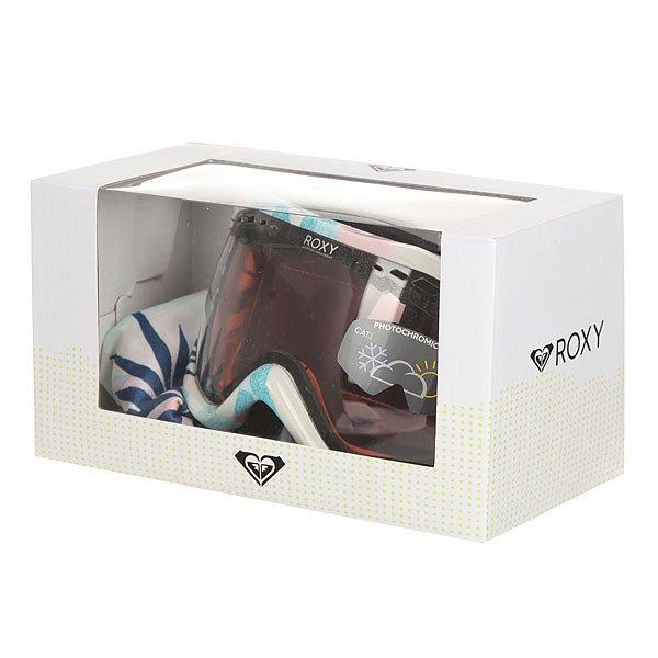Маска для сноуборда женская Roxy Sunset Art Seri Botanik/Bright White от BOARDRIDERS
