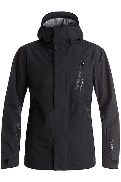 Куртка Quiksilver Forever BlackКуртки<br>Куртка Forever из коллекции Highline - это максимально водонепроницаемая одежда, которая будет держать Вас в тепле и сухости день за днем, на любой вершине.Технические характеристики: Мембрана 2L GORE-TEX®.Шелл.Подкладка из тафты и сетки с трикотажными вставками с начесом.Полностью проклеенные швы.Вентиляционные молнии с подкладкой из сетки.Внутренние эластичные манжеты из лайкры с отверстием для пальца.Регулируемый капюшон.Водостойкие молнии YKK® Aquaguard®.Нагрудный карман на молнии и карманы для рук.Внутренний карман для маски.Медиа карман, скипасс карман.Ткань для протирки фильтра маски внутри одного из карманов.Фиксированная снежная юбка из тафты с добавлением лайкры.Система пристегивания куртки к штанам.Брелок для ключей.<br><br>Размер EU: S<br>Размер EU: M<br>Размер EU: L<br>Цвет: черный<br>Тип: Куртка утепленная<br>Возраст: Взрослый<br>Пол: Мужской