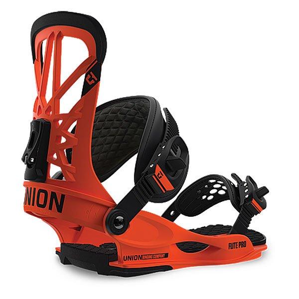 Крепления для сноуборда Union Binding Flite Pro Orange OrangeКрепления<br><br><br>Размер EU: One Size<br>Цвет: оранжевый<br>Тип: Крепления для сноуборда<br>Возраст: Взрослый<br>Пол: Мужской