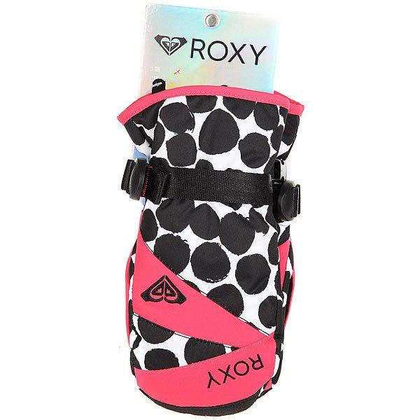 Варежки сноубордические детские Roxy Rxjettygirlmitt Irregular Dots True от BOARDRIDERS