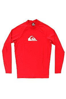 �������� Quiksilver All Time Ls Raglan Mid Neck Uni Red