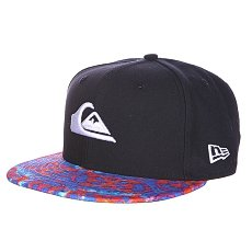 Бейсболка New Era Quiksilver Scallop NewEra Black/Red/Light Blue