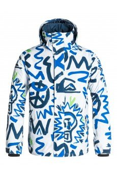 ������ Quiksilver Mission Print Cave Rave White