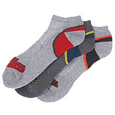 Носки низкие DC Low Cut Two Ton Heel Design Gray Heather