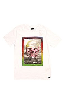 �������� Quiksilver Skullyacidss Tees White