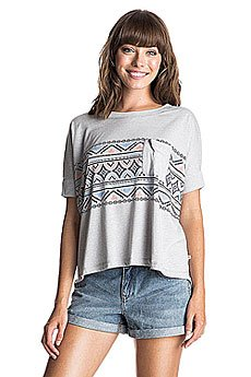 Футболка женская Roxy Boxybohoborder J Tees Heritage Heather