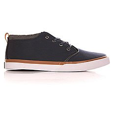 Кеды высокие Quiksilver Griffin Canvas Shoe Blue/White/Brown