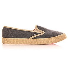 Слипоны женские Roxy Redondo Jute J Shoe Black