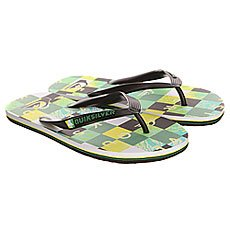 Вьетнамки Quiksilver Molokai Check R M Sndl Black/Green/Yellow