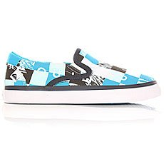 Слипоны детские Quiksilver Shore break slip on Blue/Black/White