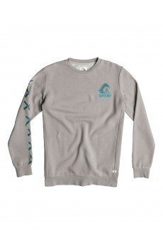 Толстовка классическая Quiksilver War Paint Crew Otlr Steeple Gray