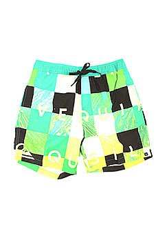 Шорты пляжные Quiksilver Check Remix Pool Gre