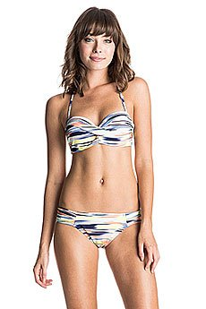Купальник женский Roxy Twisted Bandeau Pattern New Com