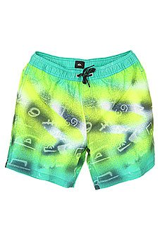 ����� ������� Quiksilver Glitched 17 Pool Green
