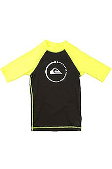 Гидрофутболка детская Quiksilver Lock Up Boy Ss Black/Safety Yellow
