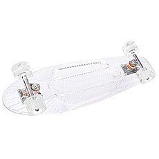 Скейт мини круизер Sunset Ghost Complete Clear Deck White Ano Wheels 6 x 22 (55.9 см)