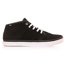 Кеды высокие Quiksilver Shorebrksuedmid Shoe Black/Black/White