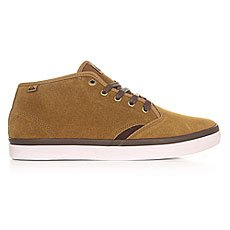 Кеды утепленные Quiksilver Shorebrksuedmid Brown/White