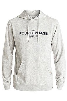 Толстовка кенгуру Quiksilver 4th Phase Hoody Light Grey Heather