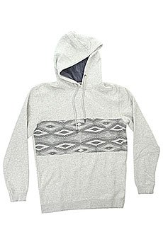 Толстовка классическая Quiksilver Strangenighthoo Light Grey Heather