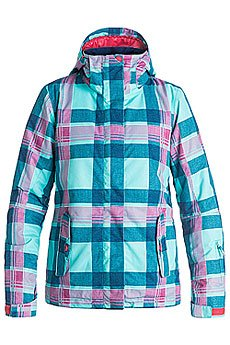 Куртка женская Roxy Rx Jetty Daya Plaid Blue Radi