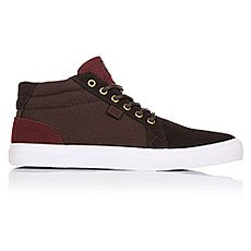Кеды высокие DC Council Mid Sd Chocolate/Oxblood